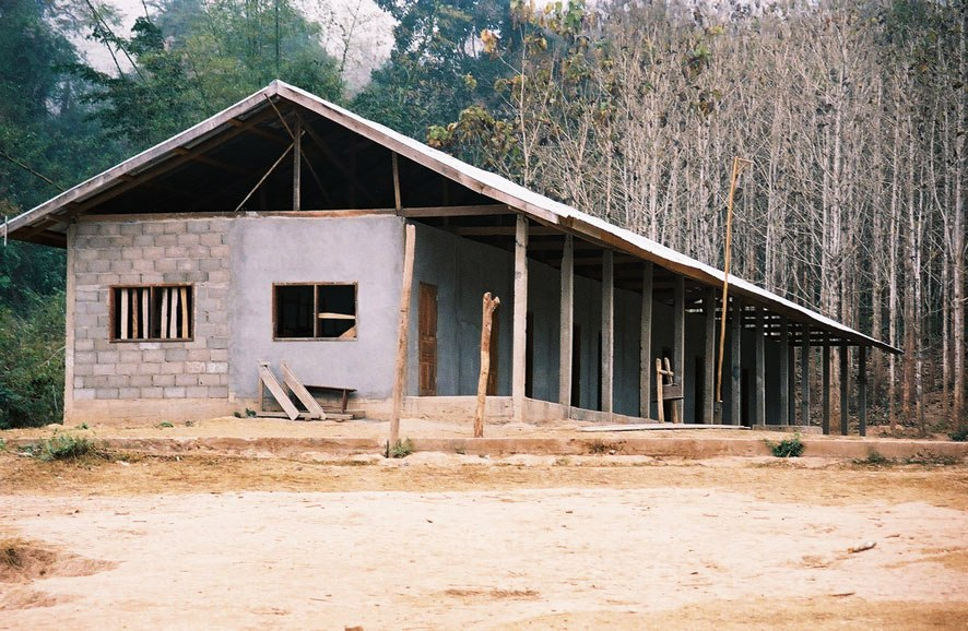 Partially completed Ban Hatteu school